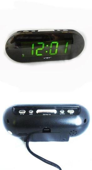Электронные часы VST 717-2, салатовая LED-индикация, будильник, 220 V - фото pic_cbdba3b0b32c77d_700x3000_1.jpg