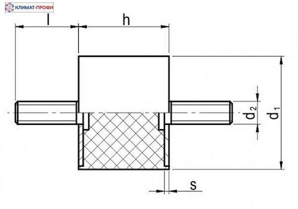 Резиновые виброопоры, тип ББ  15х15  55sh  М 4х10 мм - фото pic_5e1e6b75b5525bf044227d8fae4e51c6_1920x9000_1.jpg