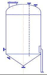 Вертикальные емкостные стальные аппараты для химических сред с нижним коническим и верхним эллиптическим днищами (ВКЭ) - фото Вертикальное емкостное оборудование