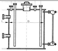 Вертикальные емкостные аппараты с плоскими днищами (ВПП, ВПК) - фото Емкостное оборудование вертикальное