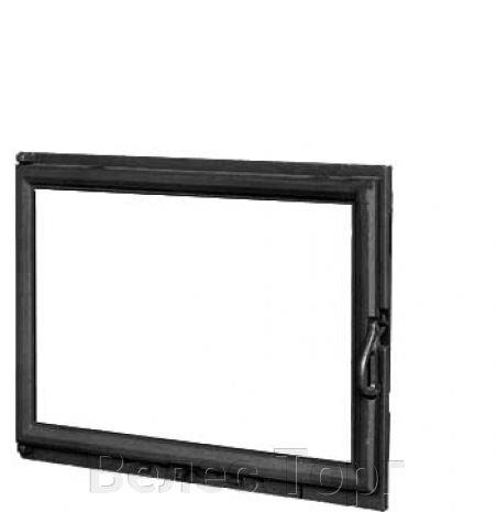 Топка чугунная Laudel 850 Pryzmat левое боковое стекло с подъемной дверцей 12 кВт - фото Дверцы для камина Kaw-Met W11 530x680 мм-дверцы каминные-дверцы чугунные-купить-киев