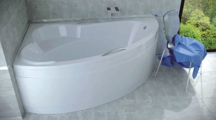 Акриловая ванна ADA 140х90 (левая) Besco PMD Piramida - фото pic_44d71e62b63afb6_700x3000_1.jpg