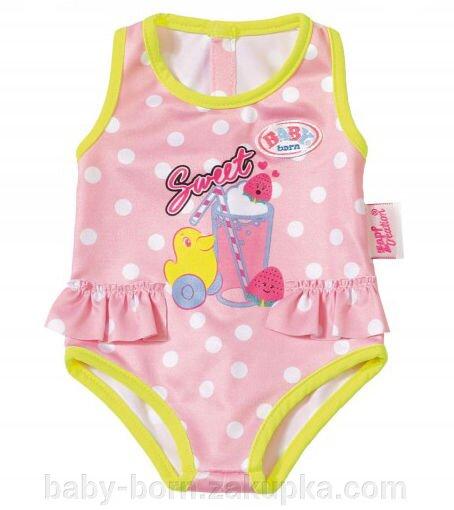 Купальник розовый для куклы Беби борн baby born Сестренка  коллекция 2018 года Zapf  Creation 824580 - фото pic_0be8f9d33a92e79_1920x9000_1.jpg