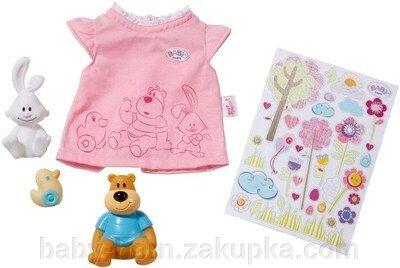 Одежда для куклы Baby Born футболка  с наклейками  беби борн  Zapf Creation  арт. 819616 - фото pic_ed9bc1087c5cbc0_1920x9000_1.jpg