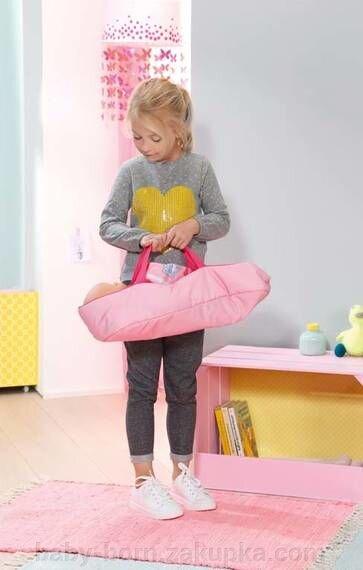 Переноска (люлька) с подушкой для куклы Baby Born оригинал «Сладкие сны» 2 в 1 арт. 822203 - фото pic_50485488643a050_1920x9000_1.jpg