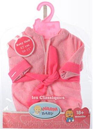 Велюровый халат с капюшоном для куклы Baby Born Беби Борн 43 см - фото pic_095ba59ce5feb7e_1920x9000_1.jpg