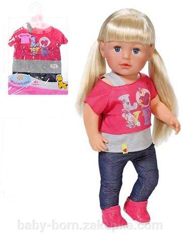 Комплект одежды для Беби Борн Baby Born 43 см стильные джинсы и футболка - фото pic_b093ac54fd6a37b_1920x9000_1.jpg