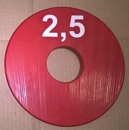 Олимпийский блин для штанги и гантелей 2,5 кг (олімпійський млинець диск утяжелитель) - фото pic_e10412220a7c296_1920x9000_1.jpg