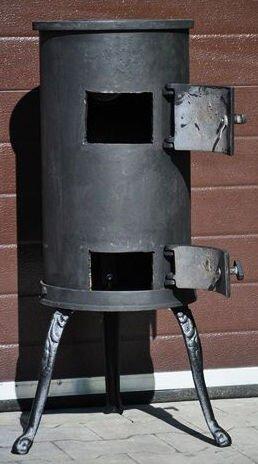 Печь буржуйка чугунная Карлик Met-Spos 6 кВт камин (піч буржуйка чавунна камін) - фото pic_de71bdd238ae412_1920x9000_1.jpg