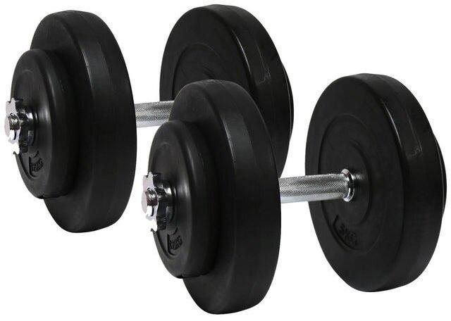 Гантели наборные 2*10 кг с металлическим грифом (20 кг общий вес) - фото pic_6e050bd65728be2_1920x9000_1.jpg