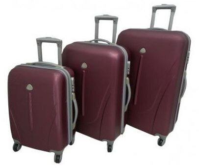 Набор дорожных чемоданов на колесах с ручкой 3в1 (Поликарбонат) - фото 4