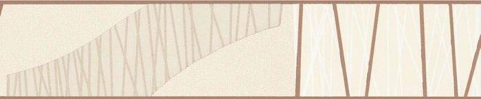 Бордюр для обоев с абстрактным коричневым узором