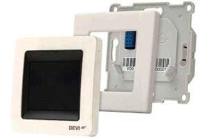 Терморегулятор электронный DEVIreg™Touch White с сенсорным дисплеем и интеллектуальным таймером - фото DEVIreg Touch