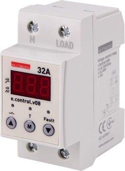 Реле контроля напряжения однофазное 32А c индикацией e. control. v08 - фото pic_c1c5ff3d32ef52ad94b0028ca10e6e2c_1920x9000_1.jpg