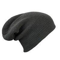 Трикотажная шапка длинный крой - ультрамарин mb7955 - фото master_1.jpg