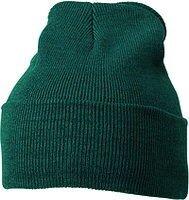 Вязаная шапка с отворотом - чёрная mb7500 - фото master_1.jpg