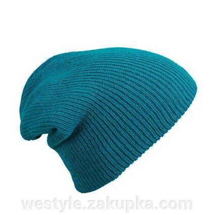 Трикотажная шапка длинный крой - чёрная mb7955 - фото master_5.jpg