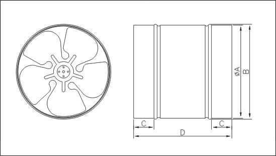 Канальный Осевой Вентилятор WB 200 - фото 1