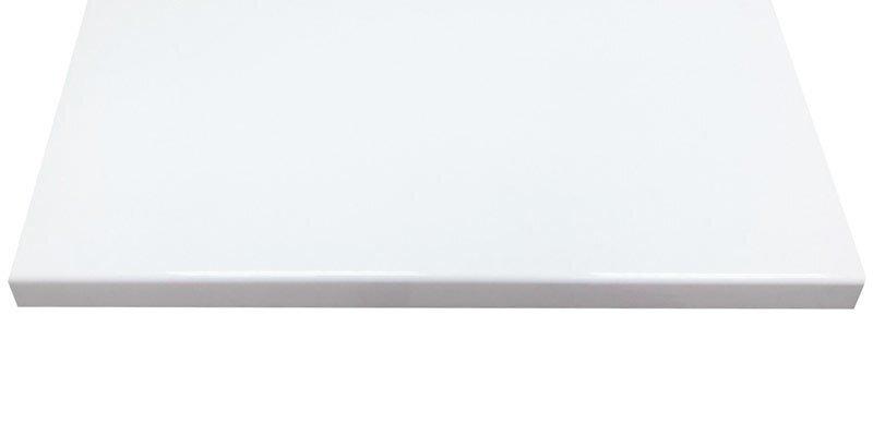 Подоконник Сауберг с прямым капиносом, белый