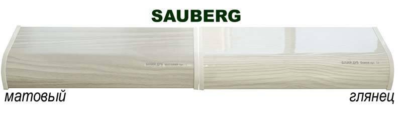 равнение подоконника Сауберг белый дуб матовый и глянец
