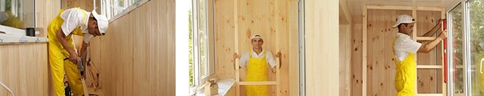Брус 30х40 для обшивки балкона деревом на Троещине, фото Окна Шоп 2020