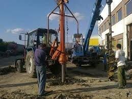 Монтаж опор в грунт - установка столбов в Киевской области - фото 3