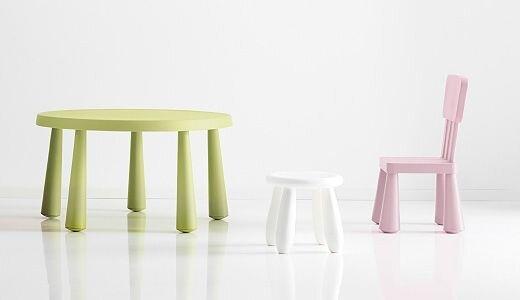 "IKEA ""МАММУТ"" Детский стул, светло-розовый - фото 1"