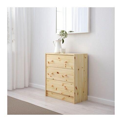 """IKEA """"РАСТ"""" Комод с 3 ящиками, массив сосны - фото РАСТ Комод с 3 ящиками, сосна"""