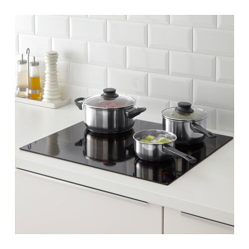 """IKEA """"АННОНС"""" Набор кухонной посуды, 3 предметa, стекло, нержавеющ сталь - фото IKEA"""