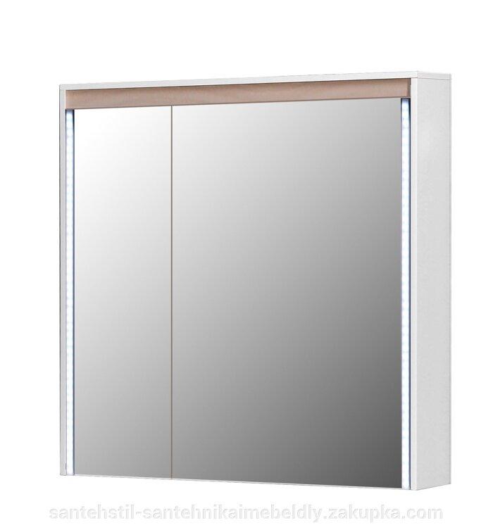Зеркальный шкаф Мойдодыр МАДРИД Берёза ЗШ-80