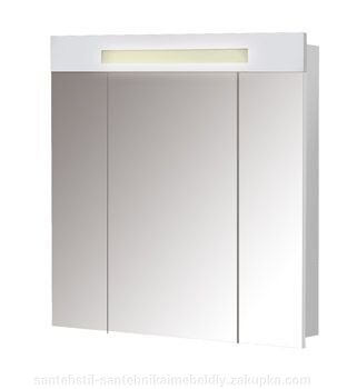Шкаф зеркальный Мойдодыр Париж ЗШ-80 белый