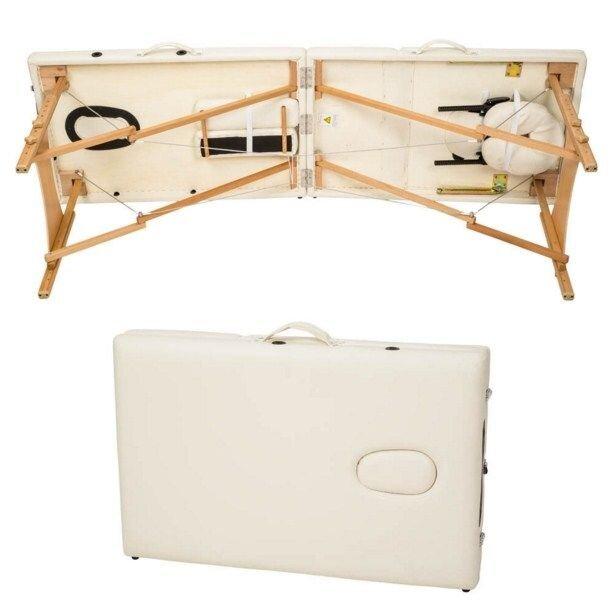 Массажный стол деревянный 2-х сегментный (Черный) (стіл масажний складний) - фото 5
