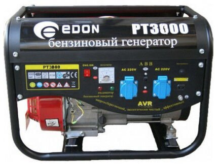 Генератор бензиновый Edon PT-3000 3000 Вт (2 розетки + выход 12В под клеммы), бензогенератор Edon - фото pic_4c4bad03218e4f9_1920x9000_1.jpg