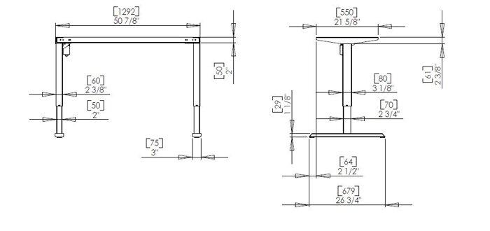 Стол с регулировкой высоты Conset 501-33 7(S, W, B) 129 - фото pic_904bb328ce7f11c_700x3000_1.jpg