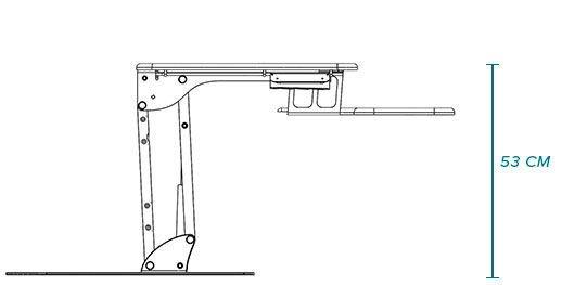 Стол для работы сидя и стоя SOLID WHITE HPL - фото pic_941a884413b0399_700x3000_1.jpg