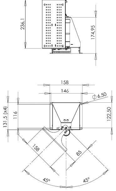 Регулируемая колона для телевизора с креплением на стену DF019 7S SB000 WB - фото pic_190e246b9fd727a_700x3000_1.jpg