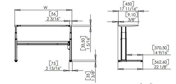 Стол с регулируемой высотой 501-27  7S 152-152A - фото pic_c200b53b9e5bac2_700x3000_1.jpg