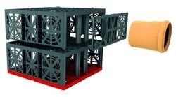 Дренажный блок Eco Bloc Flex от GRAF монтаж
