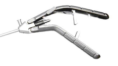 Лапароскопический иглодержатель с титановой V-образной ручкой и изогнутым влево наконечником, 5х330 мм - фото pic_409071b222e5b6816ddf0cafad099409_1920x9000_1.jpg
