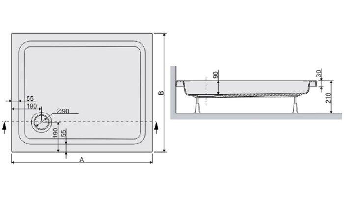 Душевой поддон квадратный B/FREE - фото pic_2c7116f71452600_700x3000_1.jpg