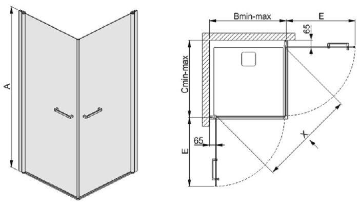 Душевая кабина квадратная SANPLAST KN2/PRIII - фото pic_70201574a2deef7_700x3000_1.jpg