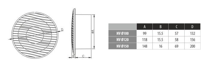Вентилятор Dospel  NV 10 (100) S (стандарт) - фото pic_06b794d1f8f786c_700x3000_1.jpg