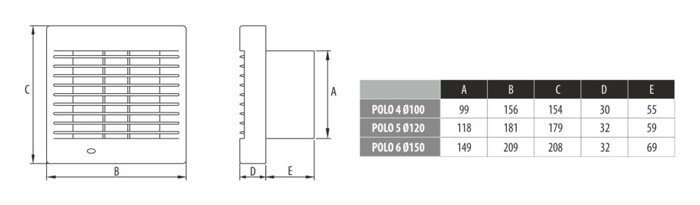 Вентилятор Dospel Polo 4 100 PIR (датчик движения) - фото pic_e7d616859ab9929_700x3000_1.jpg