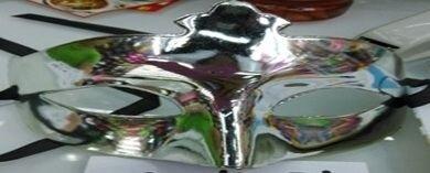 Маска венецианская карнавальная,  зеркальная цвета ассорти - фото 1