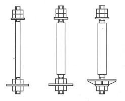 Фундаментный болт Тип 2.1, 2.2, 2.3