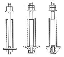 Фундаментный болт Тип 4.1, 4.2, 4.3