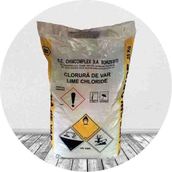Хлорная известь румынского производства в мешке 25 кг