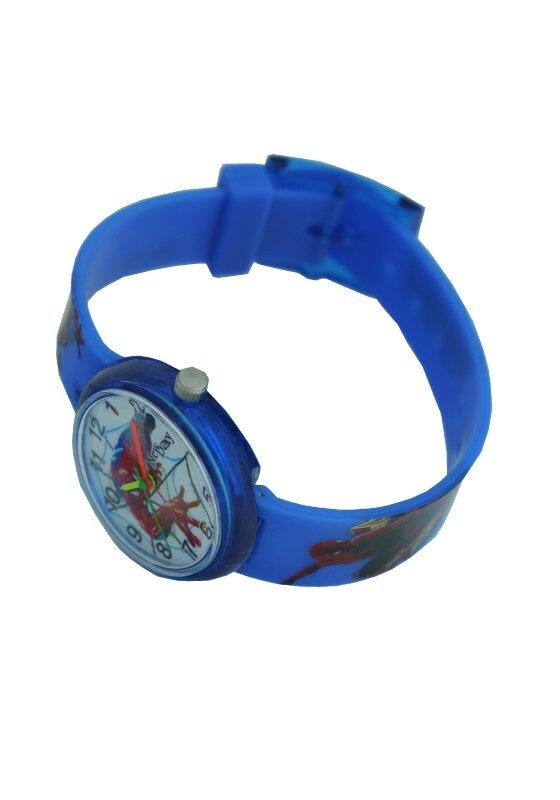 Наручные детские часы для мальчика Человек паук  голубые Spiderman - фото pic_fa0082f5857f4eba0b238b82bc7a61eb_1920x9000_1.jpg