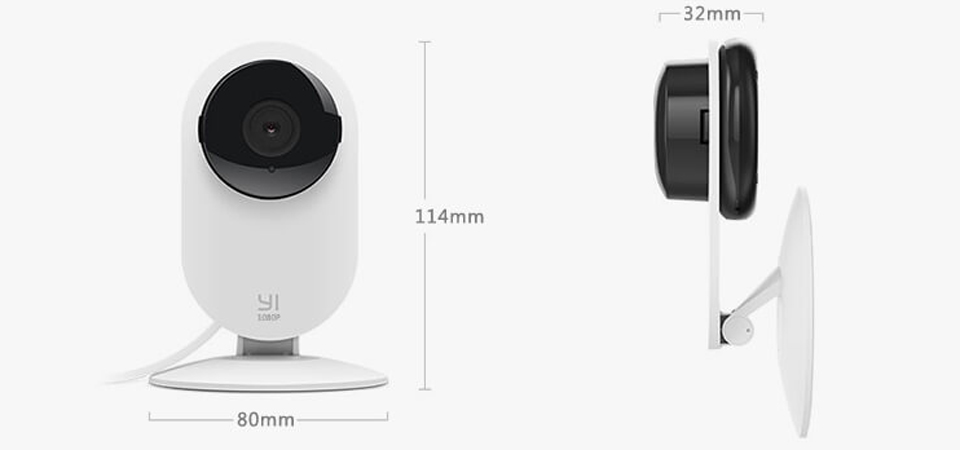 Камера видеонаблюдения IP-камера Yi Home Camera 1080p - фото IP-камера Yi Home 1080P International Edition размеры