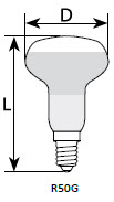 Лампа Львов рефлекторная ДЗК R50 Е14 60 Вт индивидуальная упаковка - фото 1